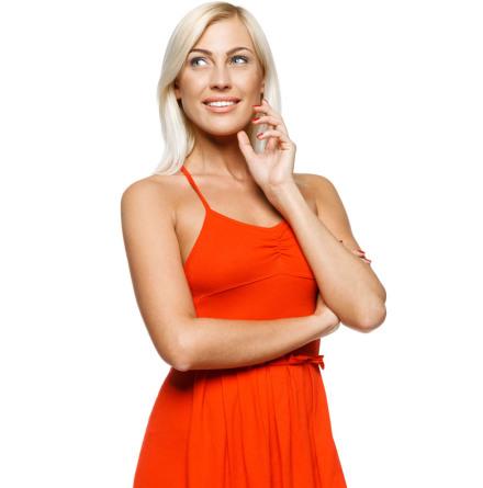 Röd klänning - stafflade priser
